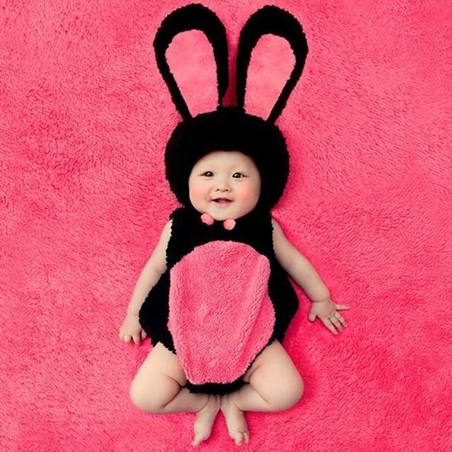 【即納】【ベビーコスプレ】 赤ちゃん 衣装 仮装 コスチューム【うさぎ・ローズ】 S677