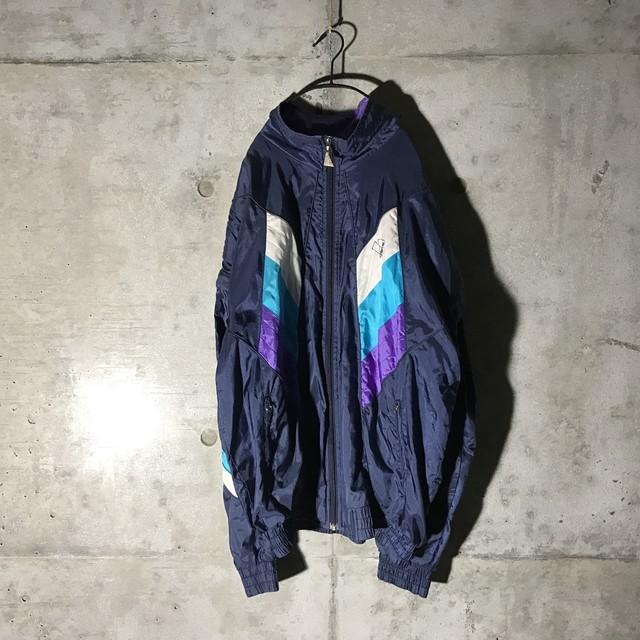 [Reebok] black×white nylon jacket
