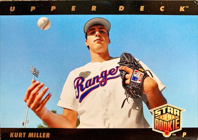 MLBカード 93UPPERDECK Kurt Miller STAR ROOKIE  #020 RANGERS