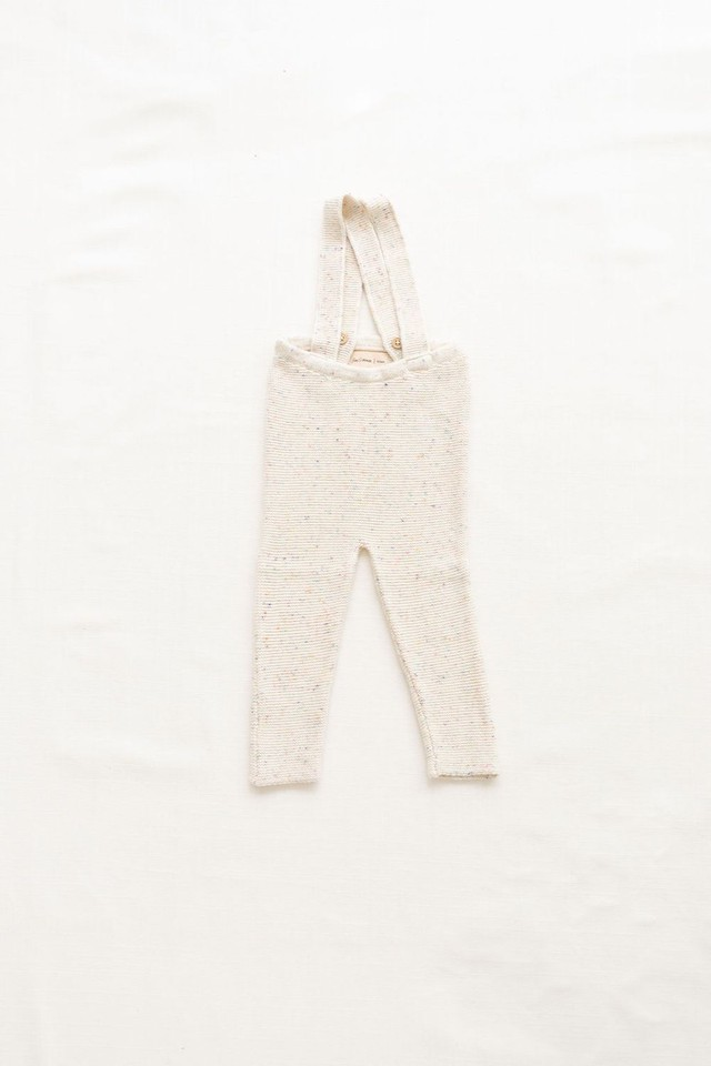 FIN&VINCE/knitted suspender pant - confetti