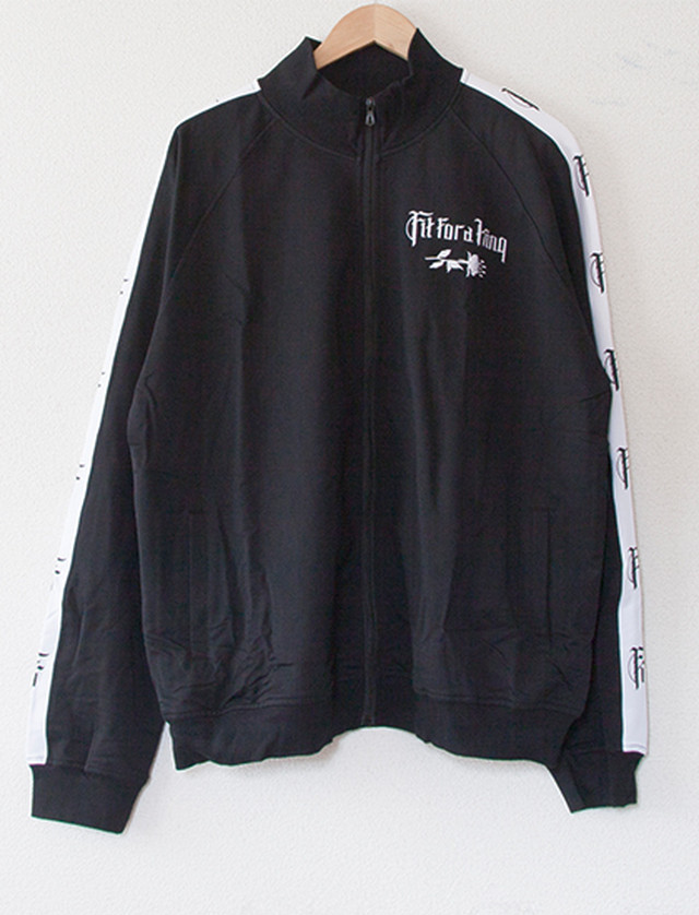 【FIT FOR A KING】Flower Embroidered Track Jacket (Black)