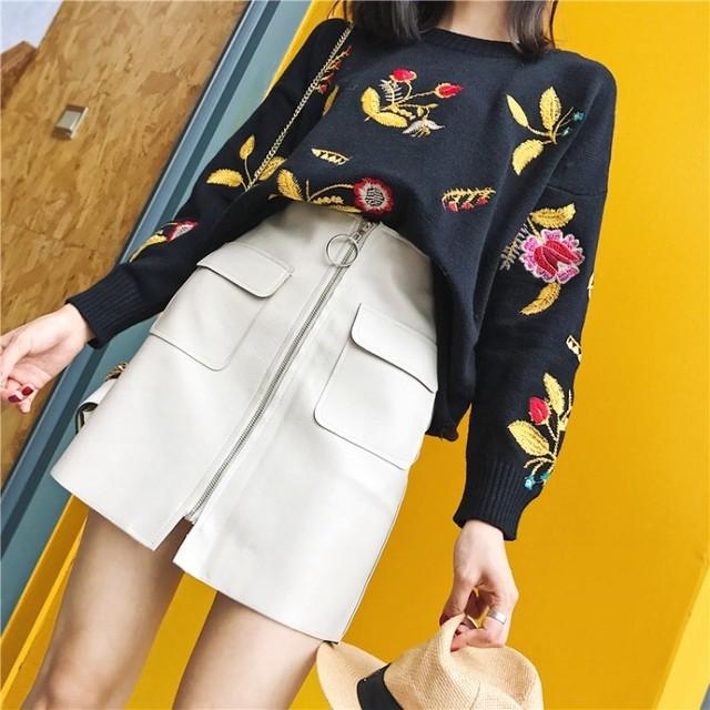 【即納】two pocket skirt