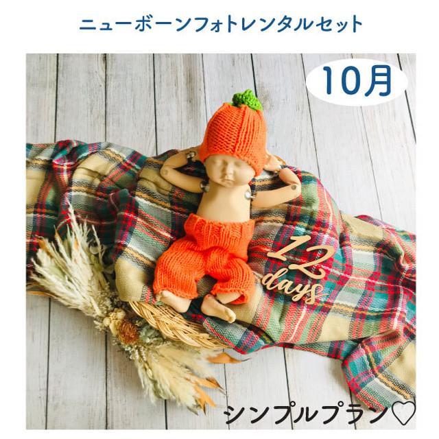 <10月ご出産予定お客様枠>秋のシンプルプラン♡ニューボーンフォトレンタル女の子セット