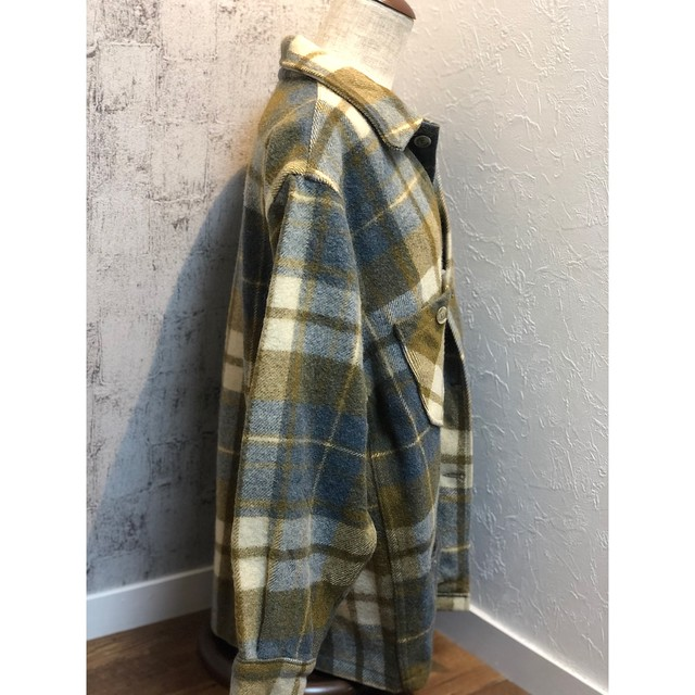 70s WOOLRICH check pullover
