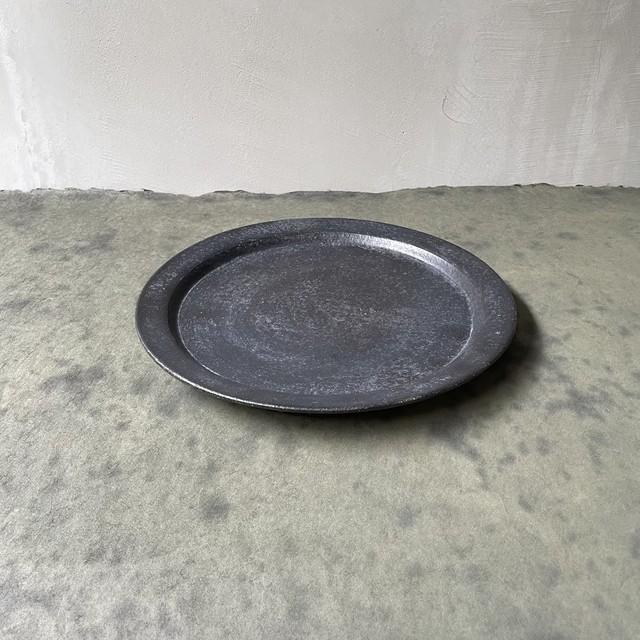 安福由美子  石入黒 リム大皿