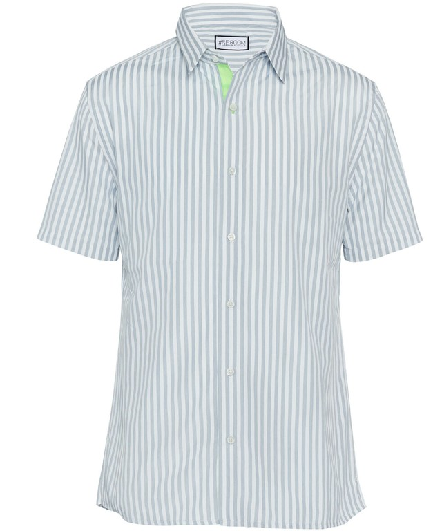 PLANE STRIPE SHORT SLEEVE SHIRTS[RUS001]