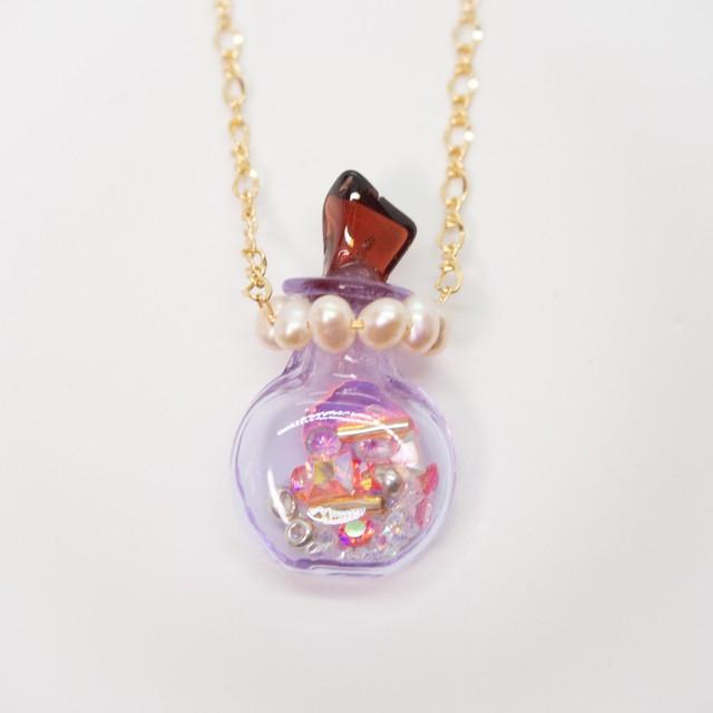 おもちゃの香水瓶ネックレス 金色 009