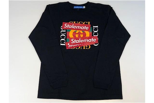 【STALEMATE】パロディーロンT/ブラック