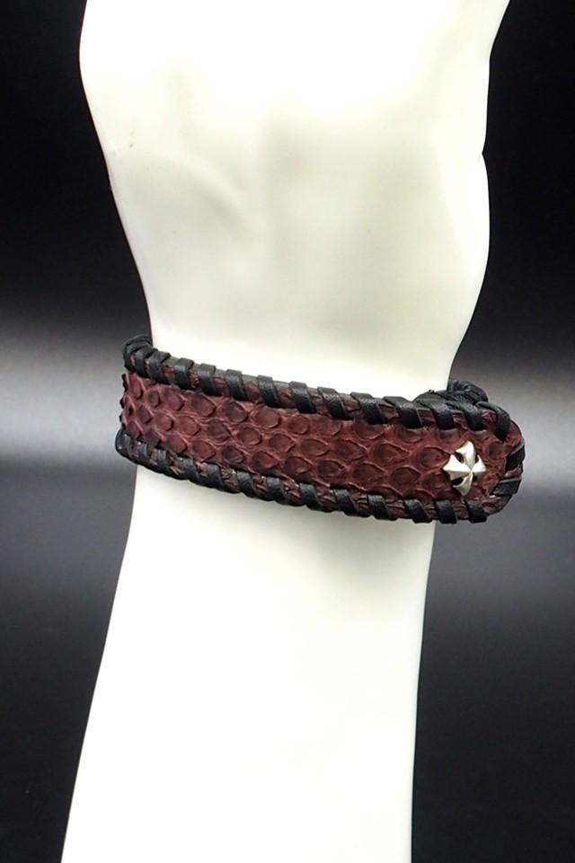 Item No.0301: Bracelet/Diamond Python《Russet》