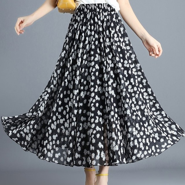 Floral Pattern Skirt T530