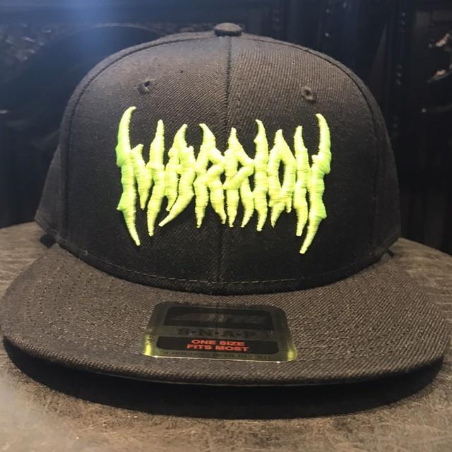 MARRIONAPPAREL LOGO CAP (Black× fluorescent Green)