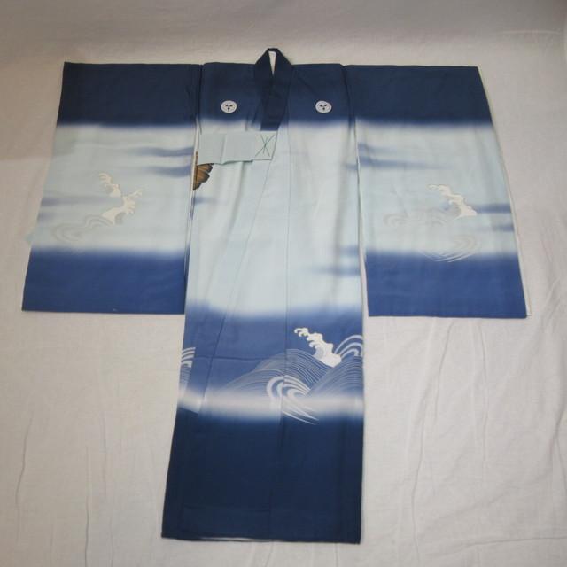 七五三、お宮参り、3歳男児用着物 紺色