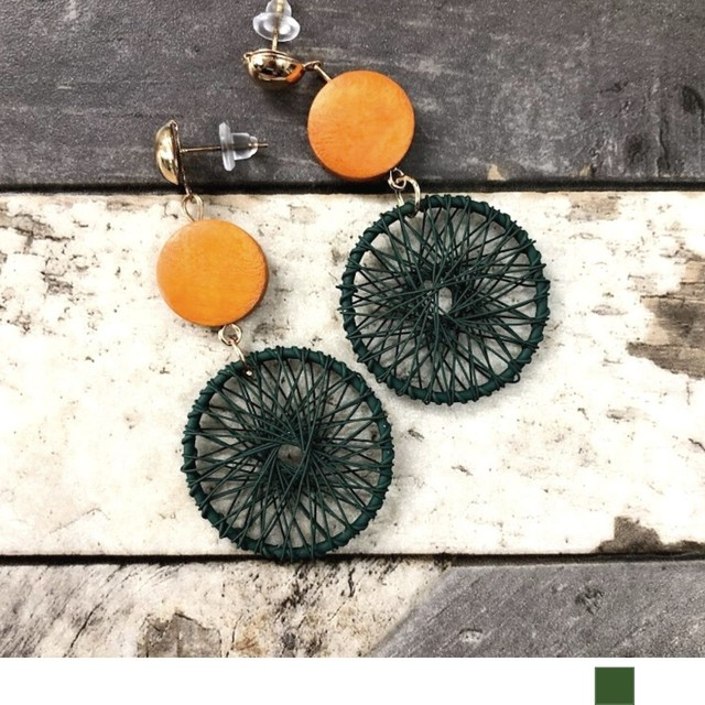 Casual circle Earrings(pierce)