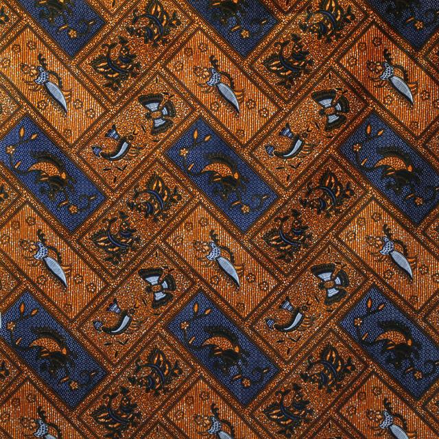 アフリカ布|175cm × 115cm 鳥・蝶・魚 / アフリカンプリント / パーニュ / キテンゲ