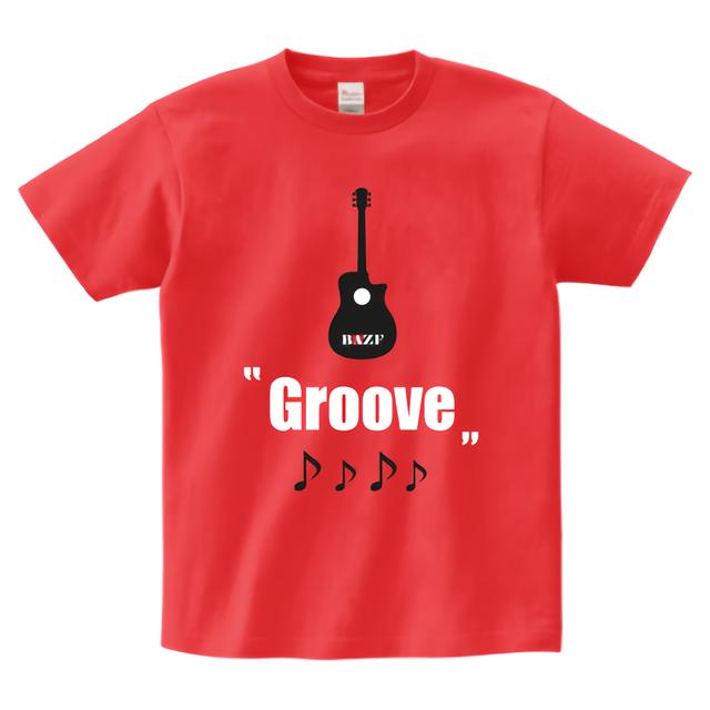 groove ヘビーウェイトTシャツ(イタリアンレッド)