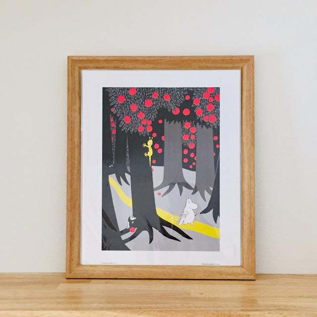 送料無料【ムーミン】4枚セット アートポスター MOOMIN フォレスト 北欧ミニポスター