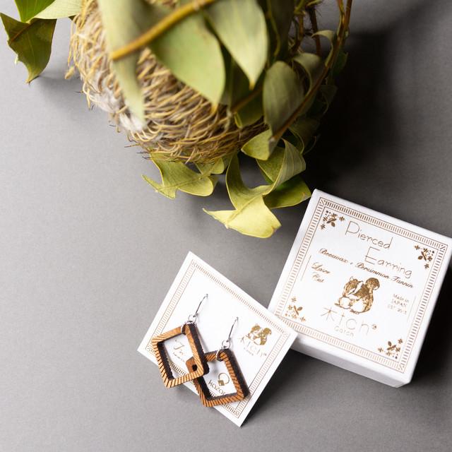 quadrangle / 四角形(Pierced Hang)