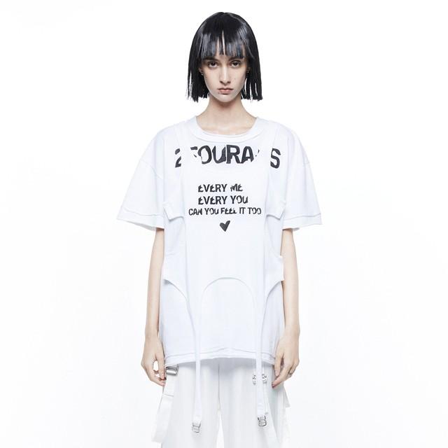 【24 ans】2ピースドッキングTシャツ