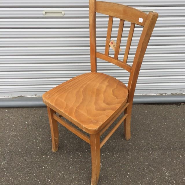品番0461 DANZAS BESANCON 木製 スツール チェア ナチュラル ル・マン製 ヴィンテージ 011