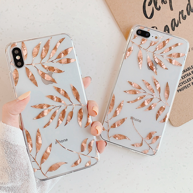 【オーダー商品】 Glod leaf iphone case