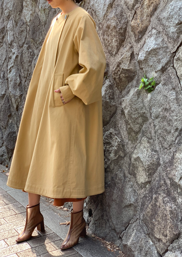 【WEB限定】 Powdery chino trench coat