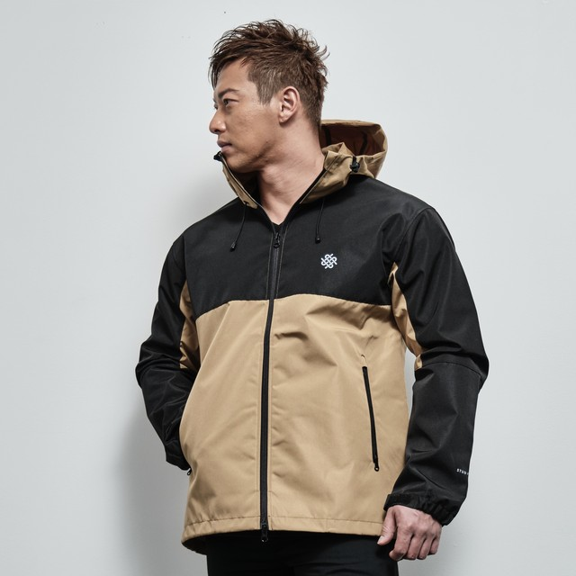 switching shell parka (COYOTE BROWN / BLACK)