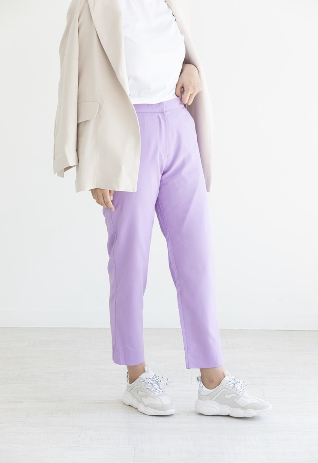 colour tapered pants