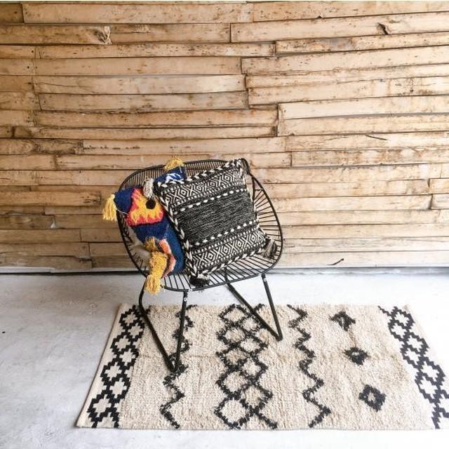 TOPANGA Homefurnishing  手織りのコットンラグマット ティンジル 80×140cm