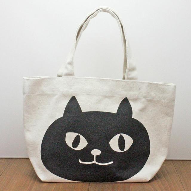 【わがままティッシュ・猫】ミニトートバッグ(ピンク)(内ポケット付)【ランチトート】【猫グッズ】