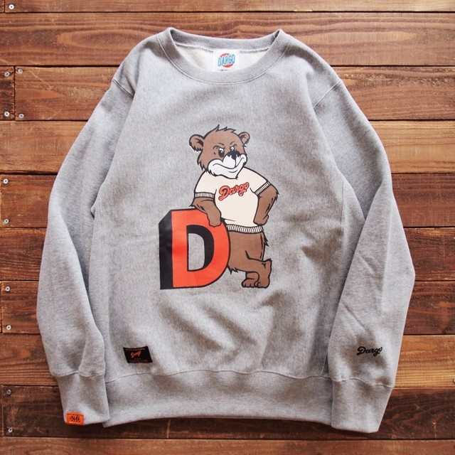 "【DARGO】""College Bear"" Heavy Weight Crew Neck Sweat (HEATHER GREY)"