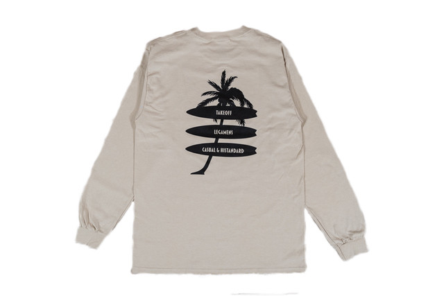 4/18発売【palm tree long sleeve】/ sand beige