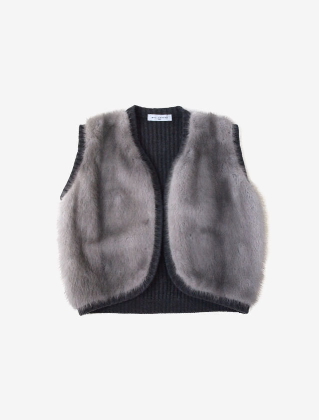BALLANTYNE CASHMERE KNIT WITH MINK FUR