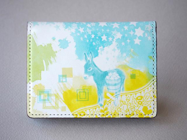 《送料無料/受注生産》星まきロバのカードケース《爽やかブルー》