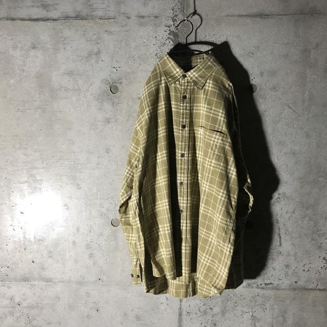 [Burberry]faint check color shirt