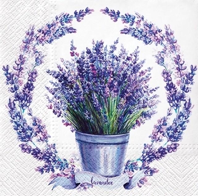 予約商品 2021春夏【PAW】バラ売り2枚 ランチサイズ ペーパーナプキン Soft Lavender ホワイト