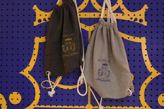 オリジナル刺繍スウェットナップサック