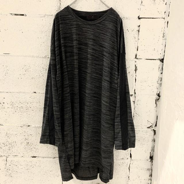 Slit-T-shirts L (dark grey)