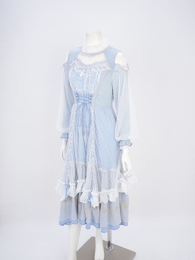 Airy lace レイヤードOP  3211506h