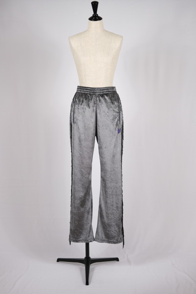 【Needles】fringe boots cut track pant crush velour-grey