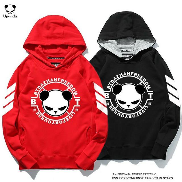 ユニセックス メンズ/レディース パンダプリント プルオーバーパーカー UPANDA ストリート / Hooded panda printed cotton loose trendy (DCT-575919812618_c)