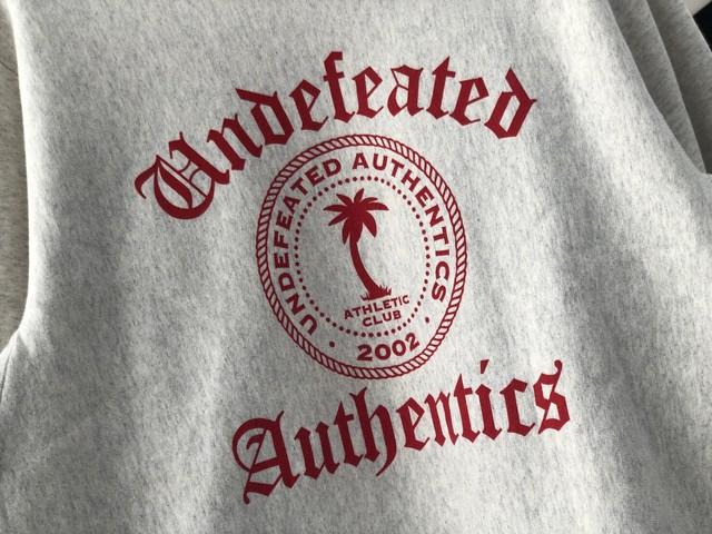 UNDEFEATED AUTHENTIC CREWNECK GREY MEDIUM 15JH8016