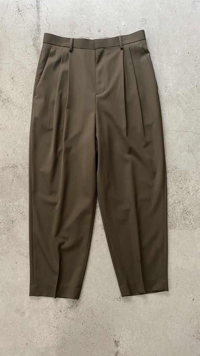 DIGAWEL / 2Tuck Tapered Pants②(WOOL) (OLIVE)