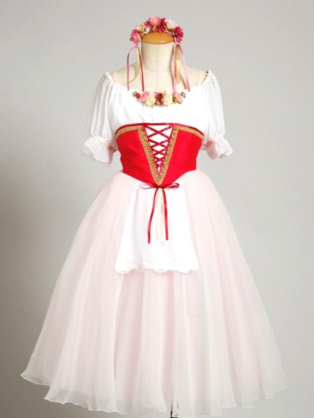【受注生産】SR100バレエ衣装 村娘(頭飾り付き)