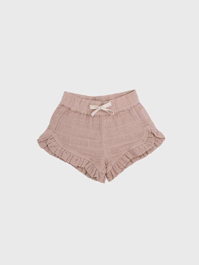 Petit Co. / Isla Frilly Shorts Light Beige Pink