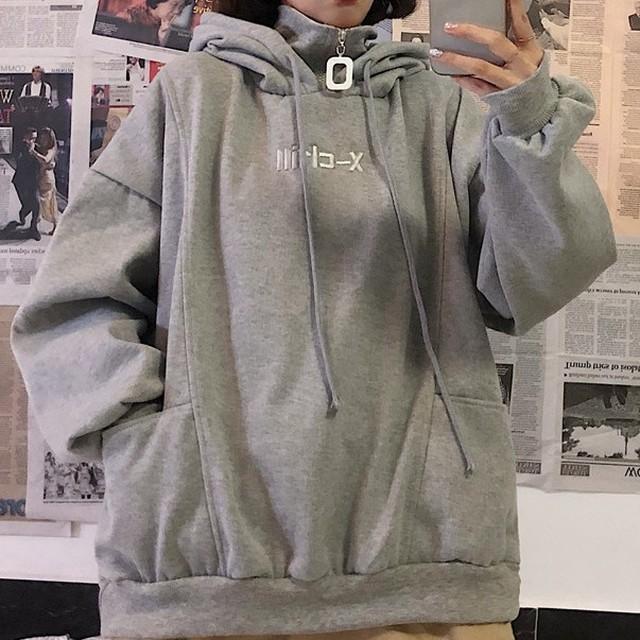 【tops】フード付き韓国ファッション厚くてパーカー