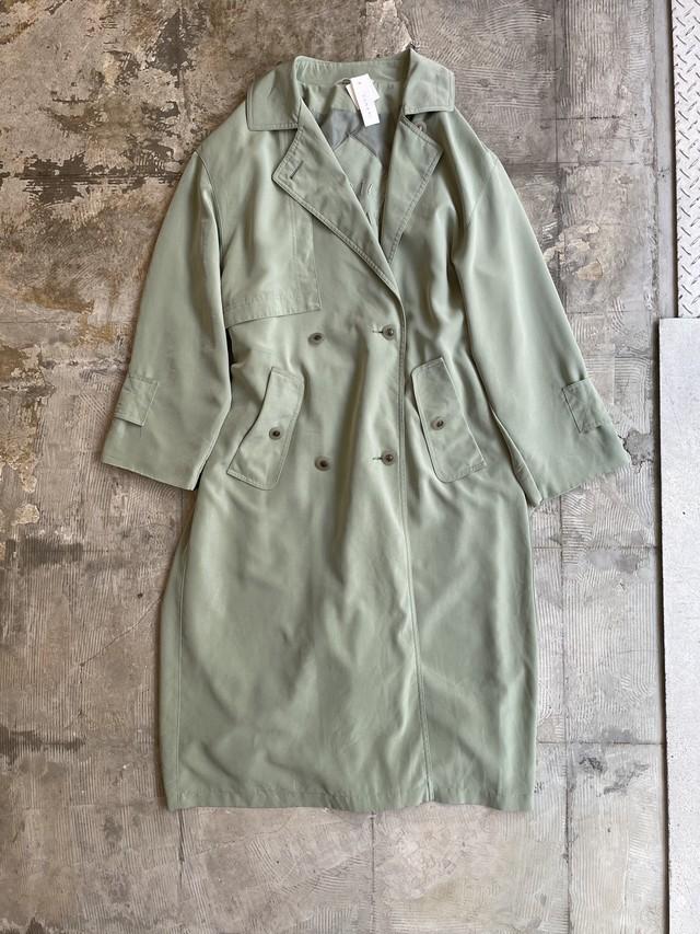 vintage trench coat light green