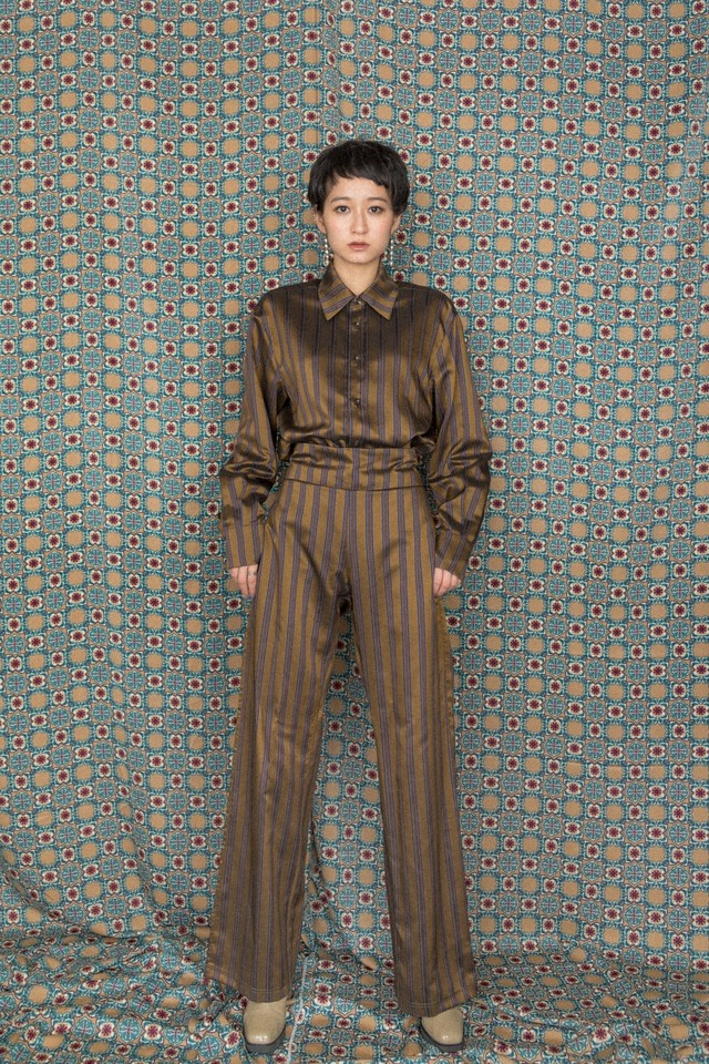 hs18AW-IR02 STRIPE PANTS