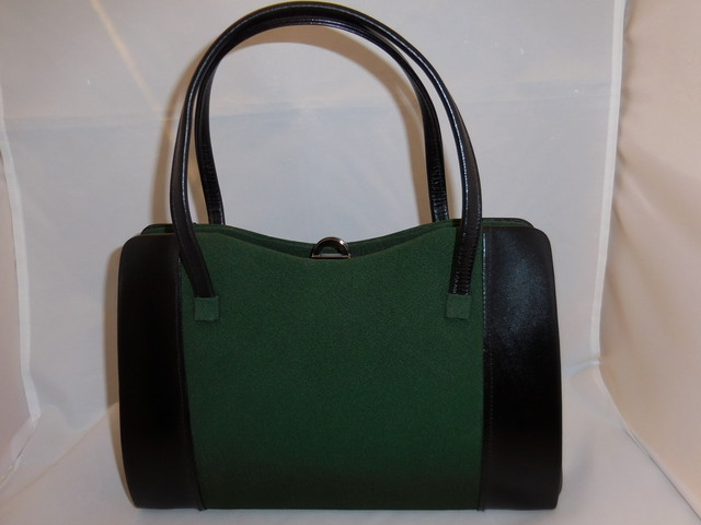 黒&緑バックblack&green vintage bag (made in Japan)