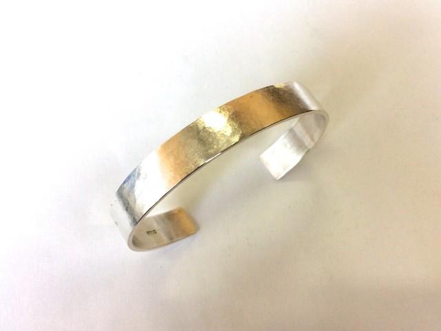 バングル (絹目/silver10mm)