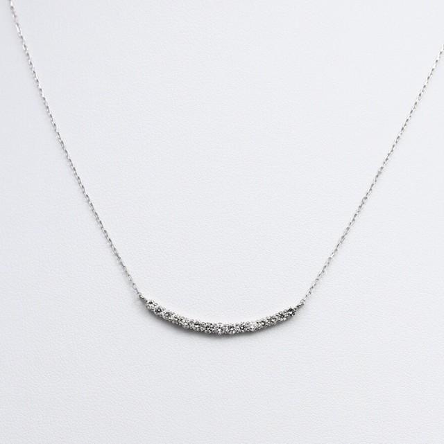 K18WG  0.5ctダイヤモンドネックレス
